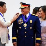 President Rodrigo R. Duterte leads Friday the Philippine National Police' assumption of command in Camp Crame, Quezon City. The President promotes the new PNP chief Dir. Gen. Ronald dela Rosa to become a four-star general.(KIWI BULACLAC/PPD)