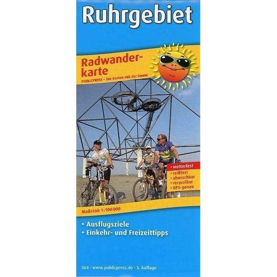 Radwanderkarte Ruhrgebiet
