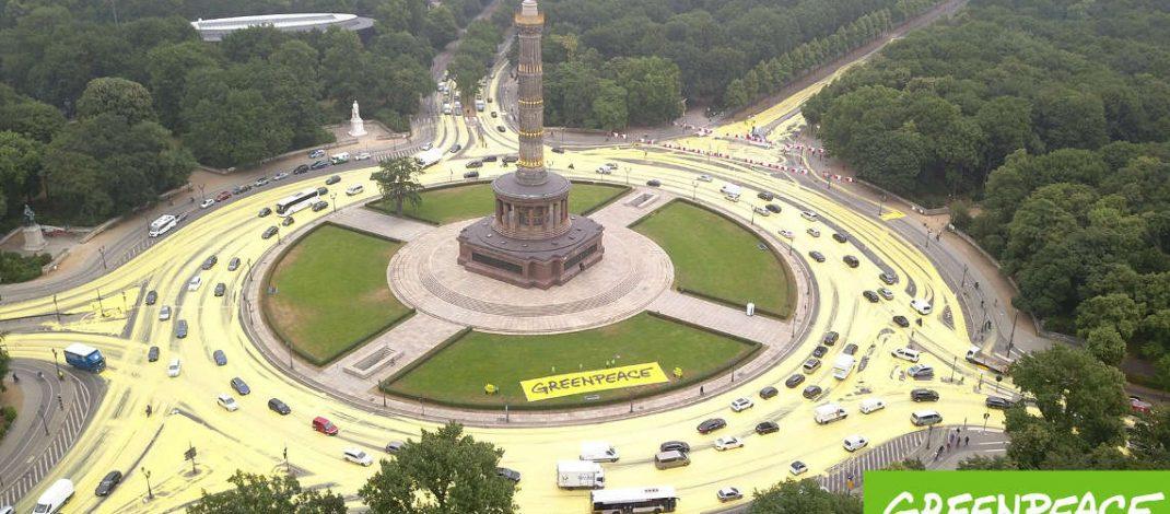 Greenpeace – gefährlicher Eingriff in den Straßenverkehr