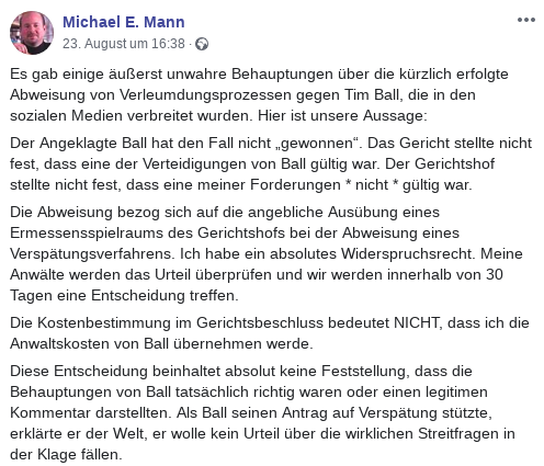 Michael Mann Gerichtsurteil